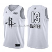Houston Rockets James Harden 13# Vit 2018 All Star Game NBA Basketlinne..